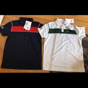 Two boys size 12 Lacoste shirts